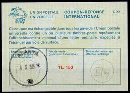 TURQUIE /TURKEY La23A TL. 150International Reply Coupon Reponse Antwortschein IAS IRC O ALANYA 4.10.85 - Interi Postali