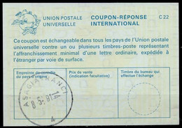 TURQUIE /TURKEY La25International Reply Coupon Reponse Antwortschein IAS IRC O ASAGIAYRANCI 8.5.91 - Interi Postali