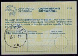 TURQUIE / TURKEY  La26  International Reply Coupon Reponse Antwortschein IAS IRC O SIRKECI 16.6.99 - Interi Postali