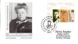 "(L3) BRD Schmuck-FDC ""100.Jahrestag D. Verleihung Friedensnobelpreis An Bertha V. Suttner"" Mi.2495 ESSt 3.11.2005 BERLIN - FDC: Sobres"