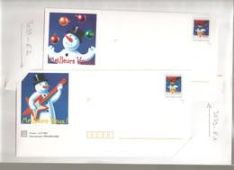 France, Prêt à Poster, 3039, Lot 5 PAP, Neuf **, TTB, Meilleurs Voeux, Bonhomme De Neige, Ballon, Croix-Rouge - PAP : Altri (1995-...)