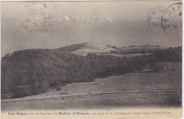 Les Alpes Vues Du Sommet Du Ballon D' Alsace Vue Prise De La Terrasse Du Grand Hotel Stauffer - Ohne Zuordnung