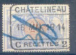K063 -België  Spoorwegen Stempel  CHATELINEAU C RECETTES 2 - 1895-1913
