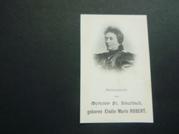 Doodsprentje ( 3785 )  Robert / Amerlinck  -  Sint - Niklaas  1907 - Avvisi Di Necrologio