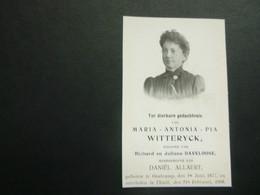 Doodsprentje ( 3793 )  Witteryck / Deaveloose -  Oostkamp   Tielt   1908 - Avvisi Di Necrologio