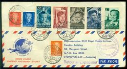 Nederland 1951 KLM-envelop 1e Vlucht Amsterdam - Tokyo VH A 383a Met Serie NVPH 573-577 - Lettres & Documents