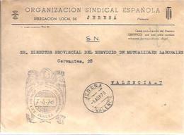 CARTA 1970 JERESA - Franquicia Postal