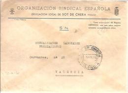 CARTA 1970 SOT DE CHERA - Franquicia Postal