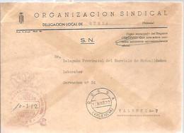 CARTA 1970 QUESA - Franquicia Postal