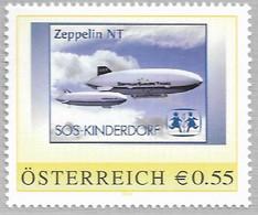 2003 Austria Österreich  Peronalisierte Marke**MNH Zeppelin NT  SOS Kinderdorf - Sellos Privados