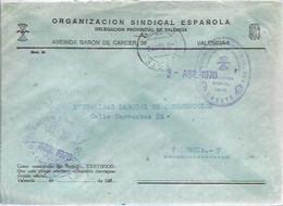 CARTA 1970 CHESTE - Franquicia Postal