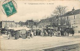 CPA 91 Essonne Longjumeau Le Marché Café Du Tramway - Longjumeau