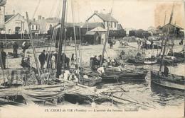 CPA 85 Vendée Croix De Vie L'arrivée Des Bateaux Sardiniers - Saint Gilles Croix De Vie