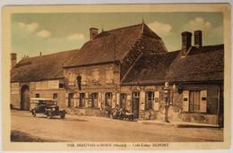 51 - BEAUVAIS LA NOUE - Le Café Tabac DUPONT - Pompe A Essence - Animée - Cpa Marne - Altri Comuni
