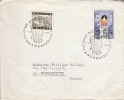 BELGIQUE AFFRANCHISSEMENT COMPOSE SUR LETTRE POUR LA FRANCE 1968 - Non Classés