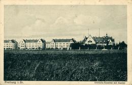 Freiburg Bresigau Fribourg  Artillerie Kaserne Mit Casino Allemagne Deutschland 1918 Tampon P K Kontrole - Freiburg I. Br.