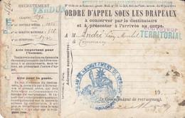 Carte D'appel Sous Les Drapeaux 1914 1918 - Autres