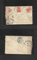 Argentina - XX. 1918 (18 Feb) El Perdido, Buenos Aires - Denmark, Klovborg, Skolen (5 March) Multifkd Envelope, French C - Ohne Zuordnung