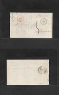 E-PROVINCIAS. 1859 (24 April) Logroño - Francia, Bayona (26 April) Carta Con Texto Sin Franquear Y Marcas Transito Y Car - Sin Clasificación