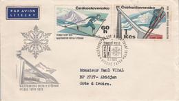 TCHECOSLOVAQUIE LETTRE FDC POUR LA COTE D'IVOIRE 1970 - Covers & Documents