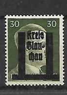 242-allemagne- Effigie Hitler Surcharge GLAU-CHAU Neuf * - Zona Sovietica
