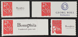 Timbres Autoadhésifs N° 3729A/3802A X2/3802A  Neuf **  TTB - Adhesive Stamps