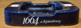 KRONENBOURG 1664 - Cendrier De Comptoir En Faïence - Dim. 24 X 18 X 4,5cm - Porcelana