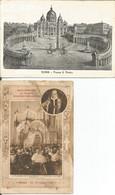 001774 - 2 PCs ITALY ROMA: PLAZZA S. PIETRO, 1913 - RICCORDO DEL CONGRESSO EUCARISTICO INTERNATIONALE 1922 - San Pietro