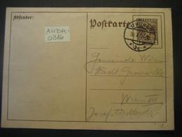Österreich 1934- Ganzsache Postkarte Gelaufen In Wien Im Ortsgebiet - Postwaardestukken