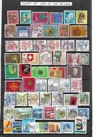 Suisse. Lot De 57 Oblitérés Entre N° 759 Et 1686. Envoi France 0,95 €. Monde 1,40 €. - Gebruikt