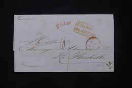 FRANCE / ETATS UNIS - Lettre De New York Pour La France En 1845 Par Voie Anglaise - L 77040 - 1801-1848: Vorläufer XIX