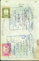 Saudi Arabia Collection Of Revenue Stamp On Passport Page's - Arabia Saudita
