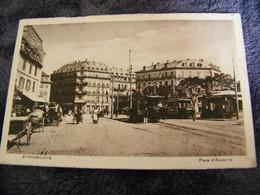 CPA - Strasbourg (67) - Place D'Austerlitz - Gare Tramways - 1919 - SUP - (EA 73) - Strasbourg