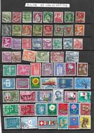 Suisse. Lot De 62 Oblitérés Entre N° Y Et T 66 Et 781. Envoi France 0,95 €. Monde 1,40 €. - Verzamelingen