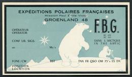 20053 T.A.A.F Carte Expéditions Polaires Françaises : Mission Paul-Emile Victor Groënland 48  TB - Briefe U. Dokumente