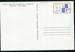 20055 T.A.A.F 1-CP** 2F30 Hommage à L'Amiral Max Douguet  1991  TB - Entiers Postaux