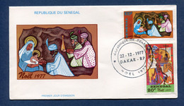 ⭐ Sénégal - Premier Jour - FDC - Noel - 1977 ⭐ - Senegal (1960-...)