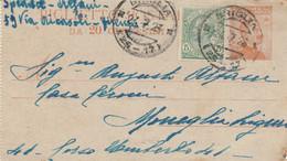 BIGLIETTO POSTALE 20+5 C. 1923 TIMBRO BRIGLIA (XM1110 - Entero Postal