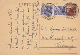INTERO POSTALE 3+2X6 1949 TIMBRO CATANIA (XM1251 - Postwaardestukken