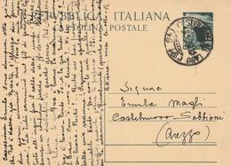 INTERO POSTALE L.15 1950 TIMBRO CASTIGLION DLE LAGO (XM1306 - Postwaardestukken