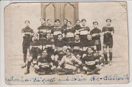 13 MARSEILLE Carte Photo De La Première équipe De Rugby 1915 - Otros