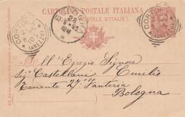 INTERO POSTALE 1895 C.10 TIMBRO CORTONA BOLOGNA AREZZO (XM1421 - Interi Postali