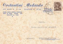 CARTOLINA POSTALE L.25 1962 TIMBRO VITERBO AREZZO (XM1453 - 1961-70: Marcofilia