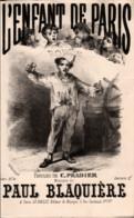 L'Enfant De Paris, Ronde. Partition Ancienne, Petit Format, Couverture Illustrée Chatinière. - Partituren