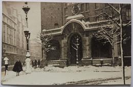"""CARTE PHOTO PARIS """"Souvenir Du Palais De La Femme Sous La Neige Mars 1946"""" Armée Du Salut 94 Rue De Charonne 11ème - Arrondissement: 11"""