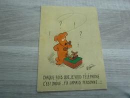 LE TELEPHONE - EDITIONS D'ART YVON - ANNEE 1967 - - Humor