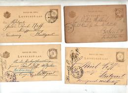 Lot 4 Carte Postale Chiffre 2 Cachet Menfo  Etc - Postwaardestukken