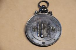 Rarissime Médaille Argent Ville De Binche,Horticulture Expo 1884,diamètre 5 Cm. Bel état De Collection - Turistici
