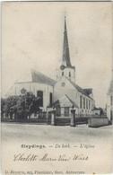 Sleydinge.   -   De Kerk   -   1906   Naar   Philadelphia - Evergem
