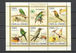 Comores 2009 Kleinbogen Mi 2352-2356 MNH BEE-EATERS - BIRDS - Autres